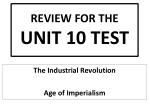 REVIEW FOR THE UNIT 10 TEST