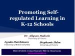Promoting Self-regulated Learning in K-12 Schools
