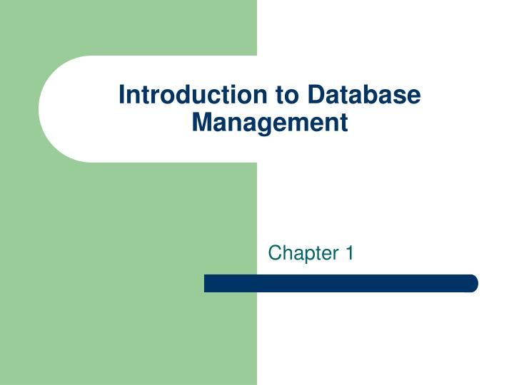 introduction to database management n.
