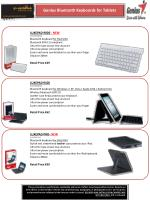 LUXEPAD 9100 31320008101 Bluetooth keyboard for Windows 7, XP, Vista / Apple iOS4 / Android 3.0 + Wireless Bluetooth E