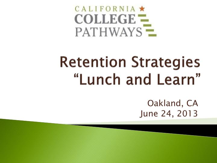 retention strategies lunch and learn n.