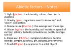 Abiotic factors – Notes