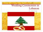 Wedding Ceremonies in Lebanon