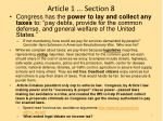 Article 1 ... Section 8