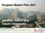 Gurgaon Master Plan 2031