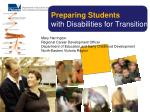 Preparing Students  with Disabilities for Transition