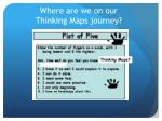 Where are we on our Thinking Maps journey?