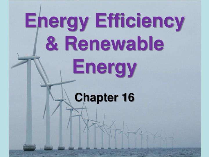 energy efficiency renewable energy n.