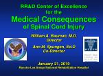 RR&D Center of Excellence for the Medical Consequences of Spinal Cord Injury William A. Bauman, M.D. Director Ann M.