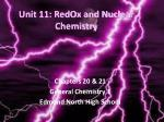Unit 11: RedOx and Nuclear Chemistry