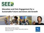 Education and Civic Engagement for a Sustainable Future and Green Job Growth