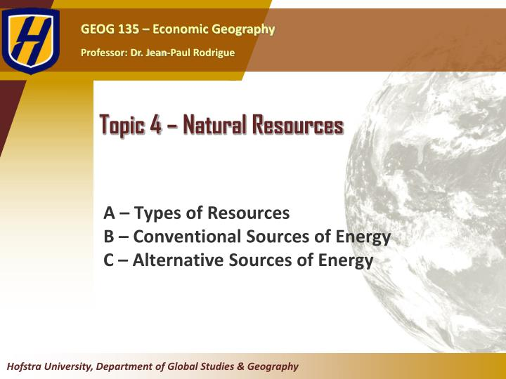 topic 4 natural resources n.