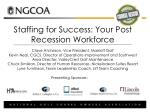 Staffing for Success: Your Post Recession Workforce Claye Atcheson, Vice President, Marriott Golf