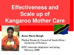 Effectiveness and Scale up of  Kangaroo Mother Care
