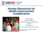 Human Resources for Health Improvement Collaborative