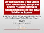 HR  Specialty Products & Services Catalogue Executive  Summary A No Frills Distillation of Vendor's Marketing Collat