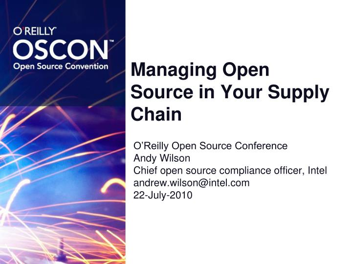 managing open source in your supply chain n.