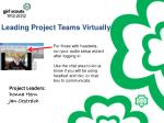 Leading Project Teams Virtually