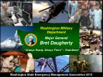 Washington Military Department Major General Bret Daugherty