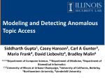 Modeling and Detecting Anomalous Topic Access