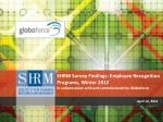SHRM Survey Findings: Employee Recognition Programs,  Winter 2012  In  collaboration with and commissioned by  Globoforc