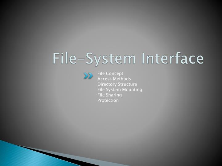 file system interface n.