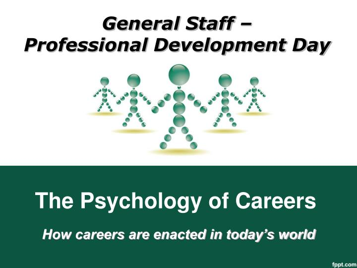 the psychology of careers n.