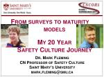 From surveys to maturity models My 20 Year  Safety Culture Journey
