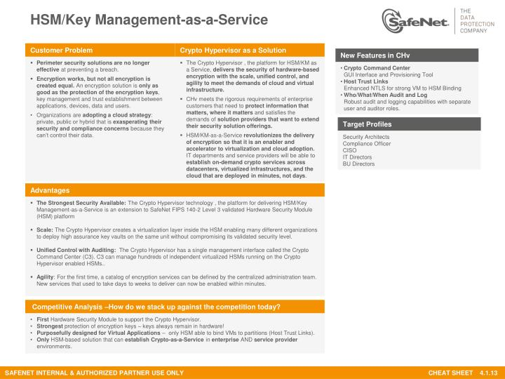 PPT - HSM/Key Management-as-a-Service PowerPoint Presentation - ID