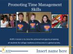 Promoting Time Management Skills