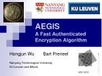 AEGIS A Fast Authenticated Encryption Algorithm