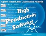 Batch-at-a-Glance Powerful & Fast Sample and Compound Navigation Automated Quant Method Editor MRM or SIM, Scan with