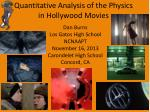 Quantitative Analysis of the Physics in Hollywood Movies