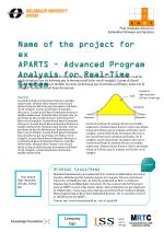Name of  the  project  for ex APARTS –  Advanced  Program  Analysis  for Real- Time  System