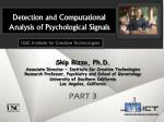 Detection and Computational Analysis of Psychological Signals