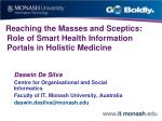 Reaching the Masses and Sceptics: Role of Smart Health Information Portals in Holistic Medicine