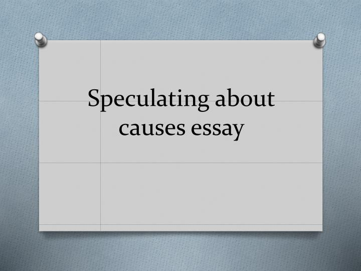 characteristics of cause and effect essay
