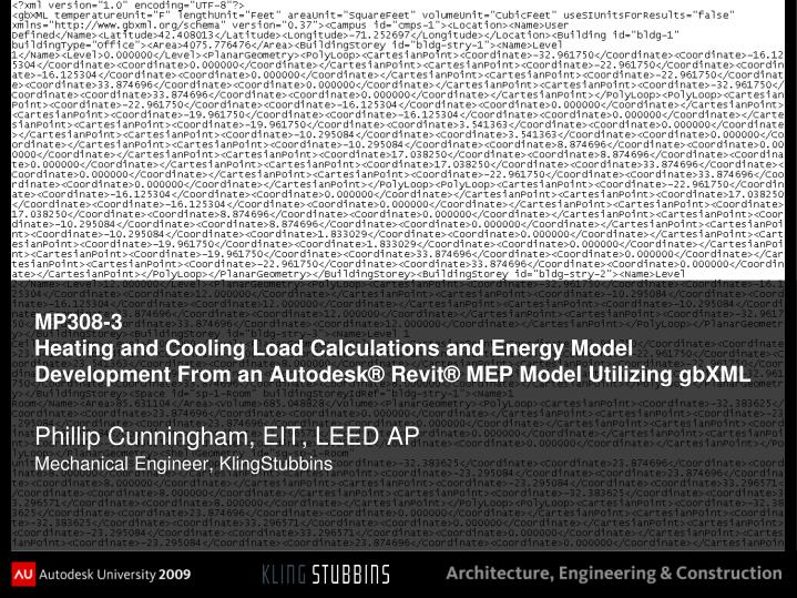 PPT - MP308-3 Heating and Cooling Load Calculations and Energy Model