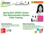 Spring 2014 ISTEP+ Online Test Administration System (TAS) Training