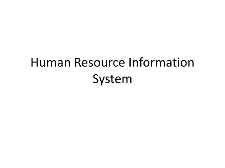 human resource information system n.