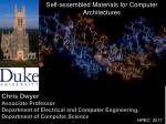 Self-assembled Materials for Computer Architectures