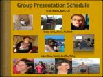 Group Presentation Schedule