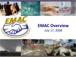 EMAC Overview July 17, 2008