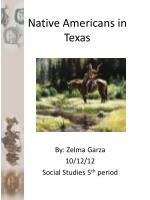 Native Americans in Texas