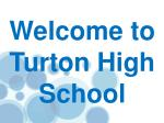 Welcome to Turton High School