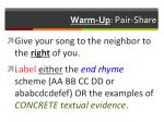Warm-Up : Pair-Share