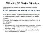 Wiltshire RE Starter Stimulus Starter ideas for the following key question from the 2011 Agreed Syllabus: KS2.4 How does