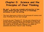 Chapter 0: Science and the Principles of Clear Thinking