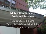 Mobile Health Design Goals and Personas