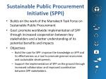 Sustainable Public Procurement Initiative (SPPI)